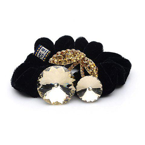 Unique Style Rhinestone and Crystal Inlaid Walnut Shape Flannelette Women's Hair Hoop - CHAMPAGNE
