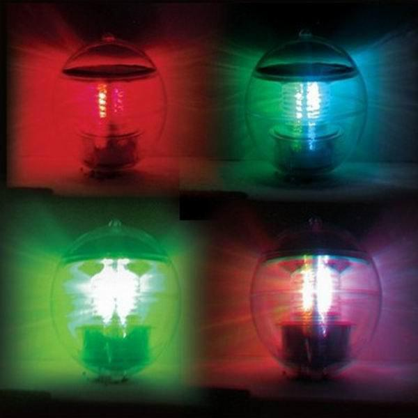 Wonderful Solar Powered Ball Style Multi-colored LED Light Decorative Lamp (Transparent)Home<br><br>