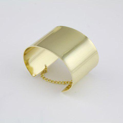 Fashionable Golden Alloy Ring and Chain Women's Bracelet