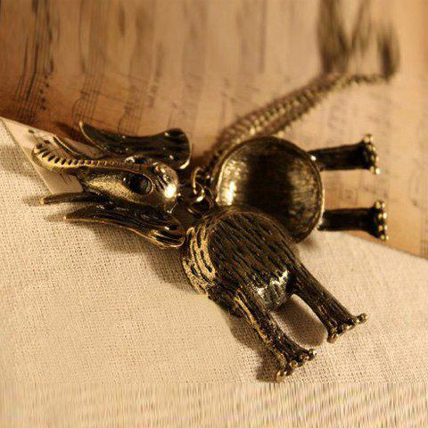 Fashion and Stylish Elephant Shape Pendant Sweater Chain - AS THE PICTURE