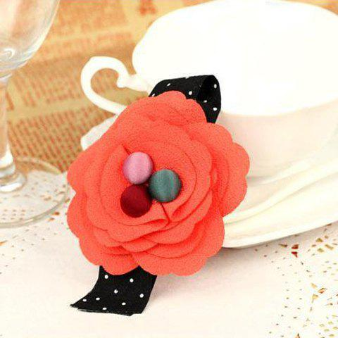 Sweet and Elegant Handmade Flower Dot Embellished Hairpin - COLOR ASSORTED