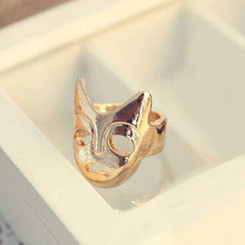 Retro Style Funny and Sad Faux Mask Shape Finger RingJewelry<br><br><br>Color: GOLD