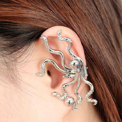 Rhinestone Inlaid Octopus Shape Earring - COLOR ASSORTED