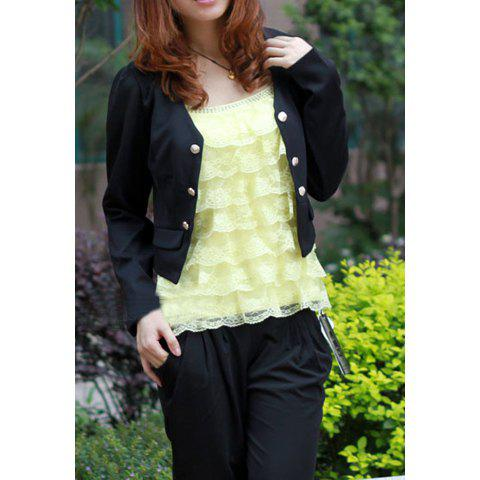 Summer Sweet Style Cotton Blend Embroidery Vest For WomenWomen<br><br><br>Size: ONE SIZE<br>Color: YELLOW