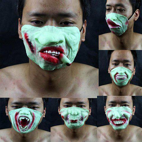 Masquerade Halloween Scarey Noctilucent Low-half Face Mask of High Quality -