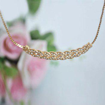 Rhinestone Geometric Shape Necklace - GOLD GOLD