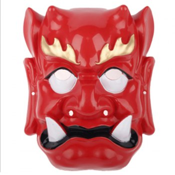 2012 High-Grade Patrol the Sea Yasha PVC Masquerade Halloween Masks  - Red - RED RED