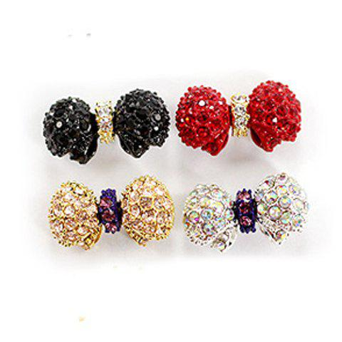 Stylish Butterfly Shape Rhinestone Design Multicolor Alloy Women's Earrings - BLACK