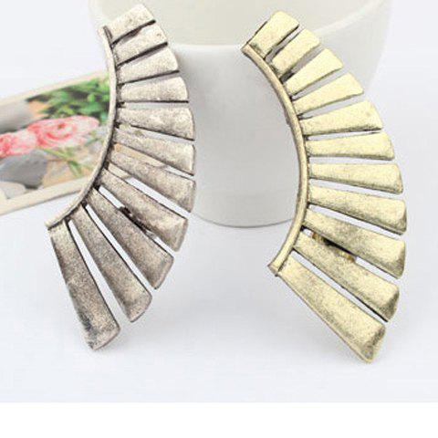 Concise Fashionable Style Exaggerated sector Alloy Women's Earrings