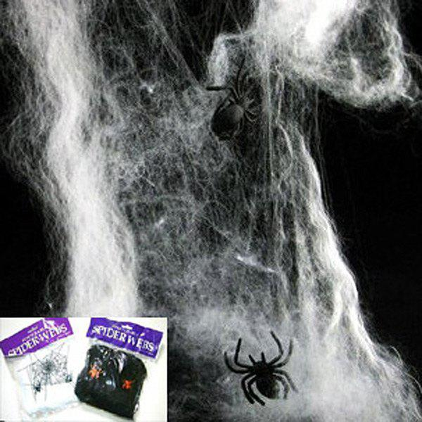 2012 New Halloween Supply Props Spider Cotton of High Quality - White - WHITE
