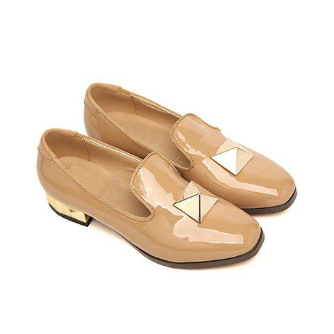 Metal and Solid Color Design Women's Flat Shoes - ORANGE 36