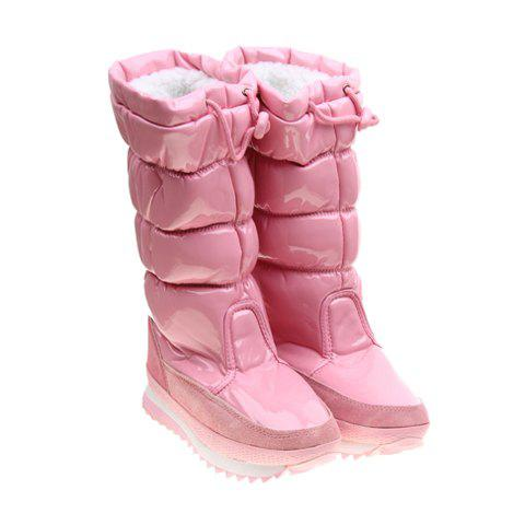 Imitation Fur and Adjustable (Pink) Design Women's Short Boots - PINK 37