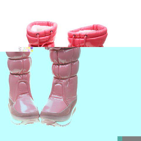 Imitation Fur and Adjustable (Rose) Design Women's Short Boots