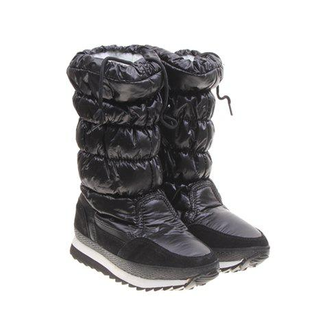 Solid Color and Imitation Fur Design Women's Short Boots - BLACK 38