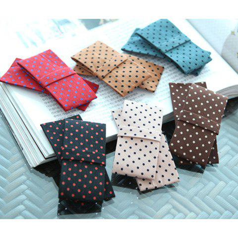 Exquisite Korea Style Dot Print Irregular Bowknot Embellished Hairpin For Women - COLOR ASSORTED