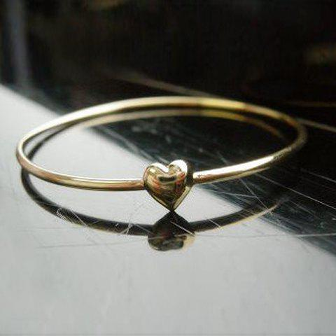 Sweet Simple Style Heart Shape Gilding Bracelet For Women - GOLD