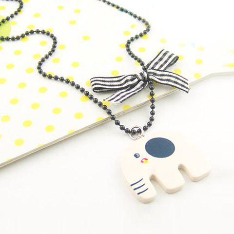 Cute Style Concise Design Elephant Shape Decorated Sweater Chain - AS THE PICTURE