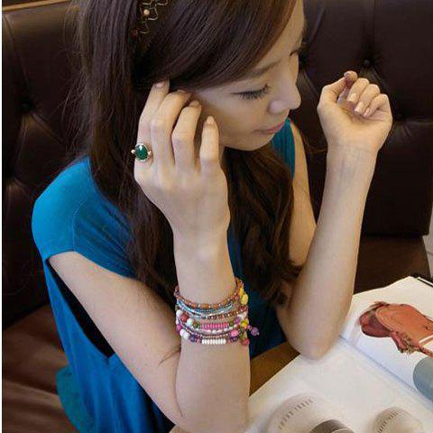 Stylish National Style Multi-layered Beads Bracelet For Women - AS THE PICTURE