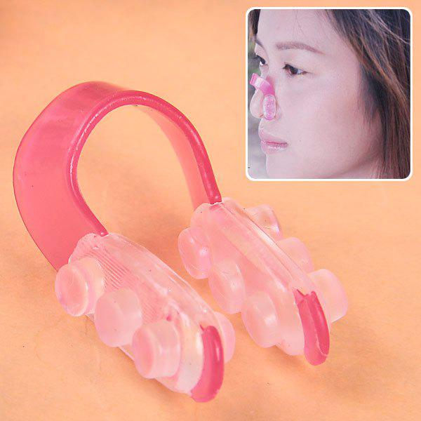 Fashion Beauty Nose up Nose Clip (Red and Transparent) - PINK