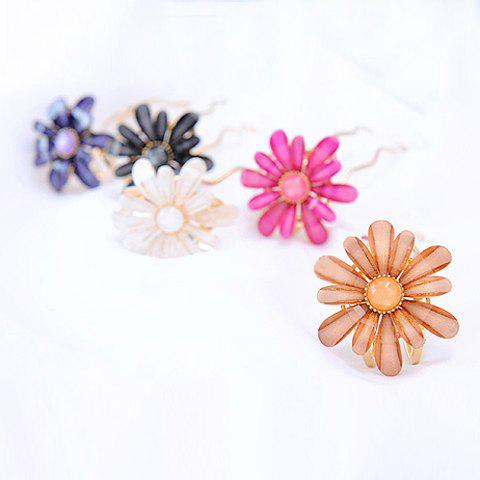 Exquisite and Stylish Candy Color Flower Shape Gemstone Inlaid Hairpin For Women - COLOR ASSORTED