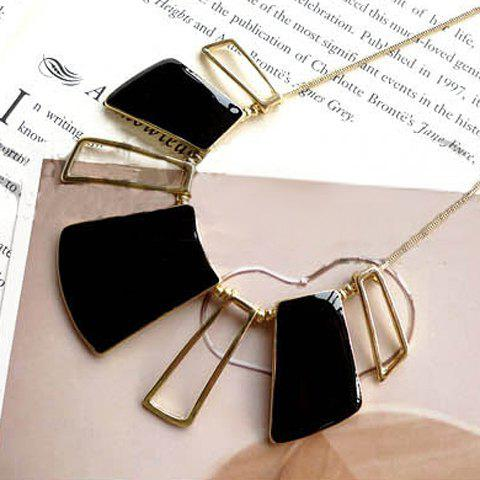 Gorgeous Style Openwork Square Shape Pendant Necklace