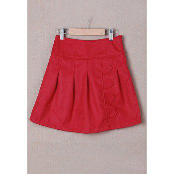 Retro Style Pleated Women's Winter Skirts
