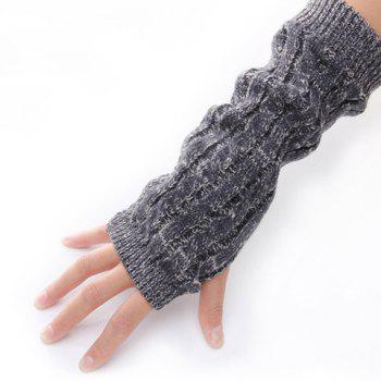 Classical Colour Mixture Exposed Fingers Design Gloves For Men