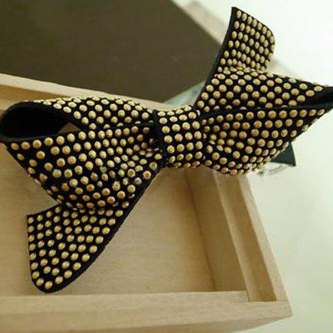 Delicate and Retro Style Bowknot Shape Stud Embellished Hairpin For Women - COLOR ASSORTED