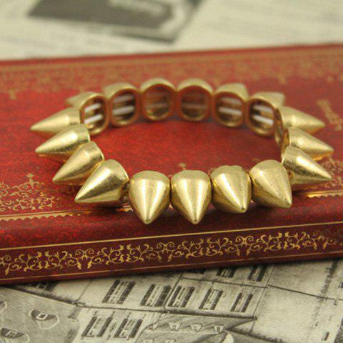 Retro Punk Style Rivet Shape Bracelets For Women - GOLD