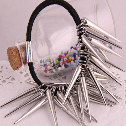 Punk Style Spike Embellished Hair Band For Women - SILVER