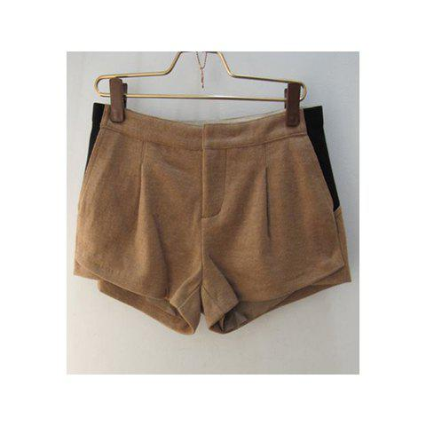 Stylish Mix Match Solid Color Casua Women'sl Shorts