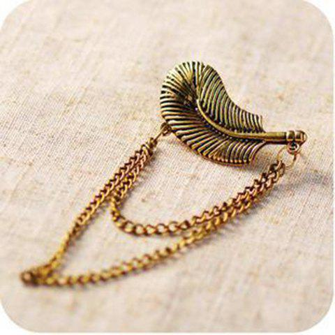 Retro Punk Style Leaf Shape Fringe Embellished Ear Hook For Women - AS THE PICTURE