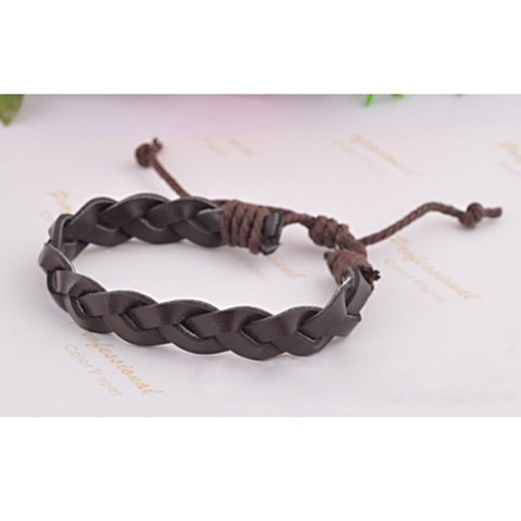 Punk Stylish Style Braid Shape Bracelet For Couple - COLOR ASSORTED