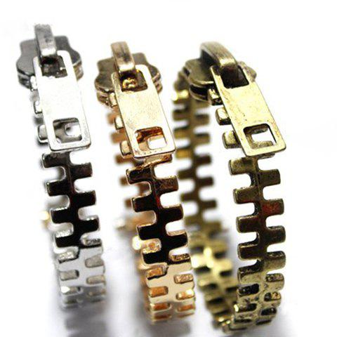Punk Style Zipper Shape Bracelet - COLOR ASSORTED