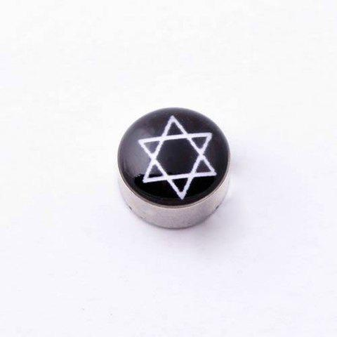 Fashionable Exquisite Style Hexagram Shape Print Earrings For Women and Men - AS THE PICTURE