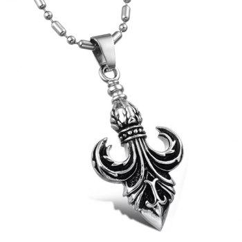Fashionable Personalized Style Boat Anchor Shape Pendant Embellished Necklace For Men - AS THE PICTURE AS THE PICTURE