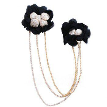 Stylish Military Uniform Style Flower Shape Stud and Fringe Embellished Brooch For Women/Men