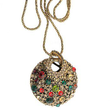 Fashion Retro Style Colorful Rhinestone Embellished Sweater Chain For Women - COLOR ASSORTED COLOR ASSORTED
