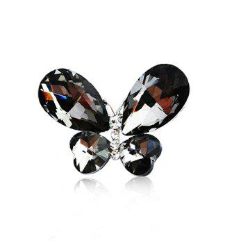 Exquisite Graceful Style Rhinestone Embellished Butterfly Shape Women's Brooch