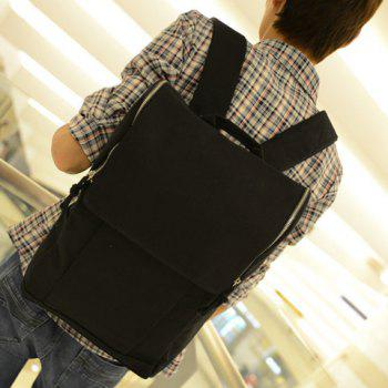Outdoor Solid Color and Zipper Closure Design Men's Backpack