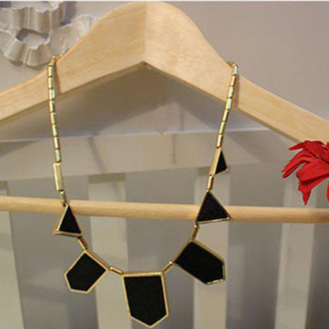 Stylish Punk Style Polygon Pendant Women's Necklace - AS THE PICTURE