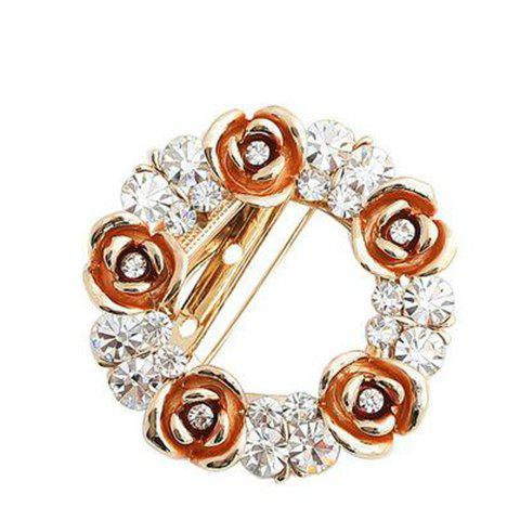 Korea Graceful Style Rhinestone Embellished Garland Shape Women's Brooch