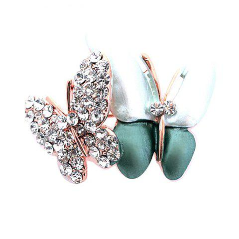 Exquisite Romantic Style Bouble Butterfly Shape Design Rhinestone Embellished Brooch For Women от Dresslily.com INT