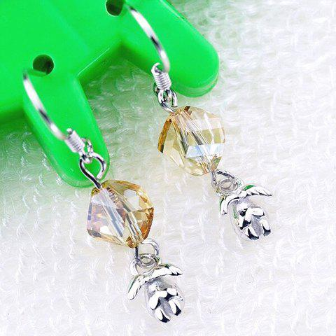 Pair of Elegant Style Rhinestone Embellished Angell Decorated Women's Earrings