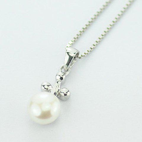Elegant Sweet Style Pearl Inlaid Cross Design Pendant - AS THE PICTURE
