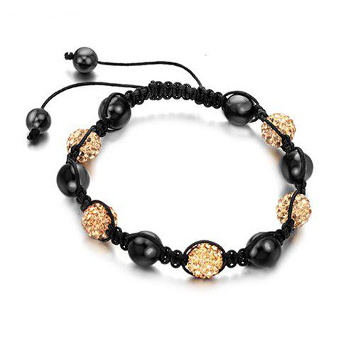 New Arrival Graceful Colorful Beads Braided Women's Bracelet - CHAMPAGNE