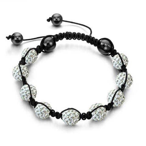 Fashion Elegant Style Rhinestoned Beads Women's Braided Bracelet