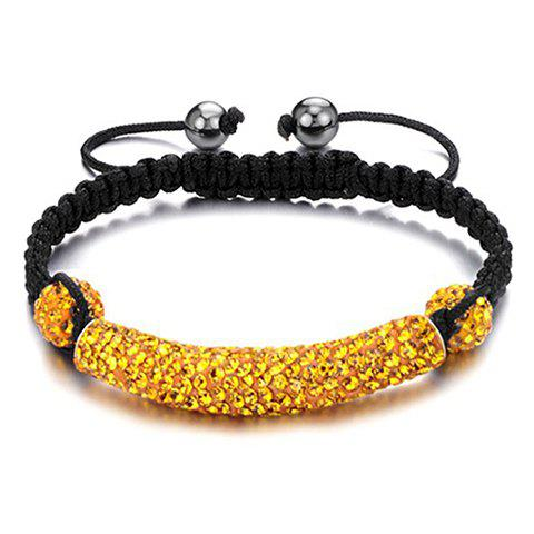 Fashion Casual Style Rhinestone Embellished Women's Braided Bracelet - COLOR ASSORTED