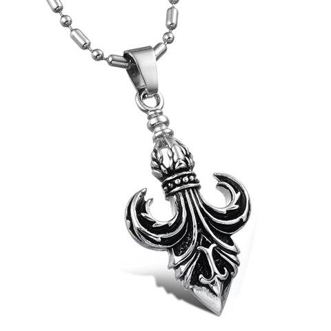 Fashionable Personalized Style Boat Anchor Shape Pendant Embellished Necklace For Men - AS THE PICTURE