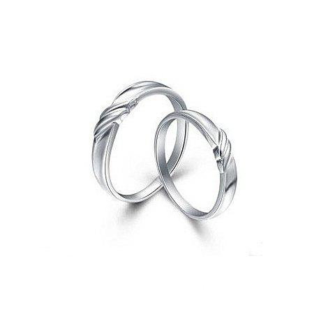 Pair of Exquisite Romantic Style Nick Embellished Love Rings For Couple - AS THE PICTURE 19